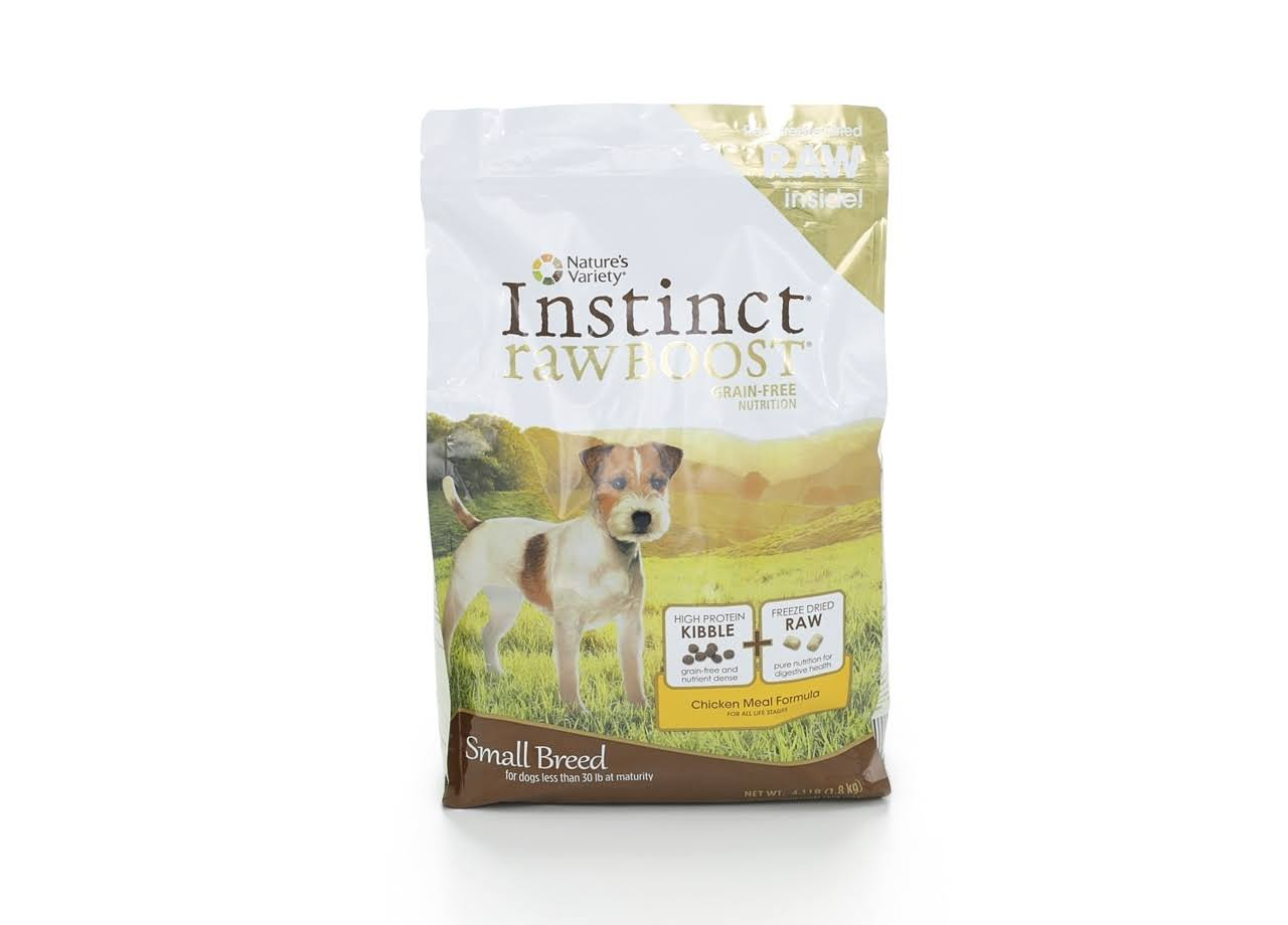 Nature's Variety Instinct Raw Boost Small Breed Grain-Free Chicken Meal Dry Dog Food - 4.1lb