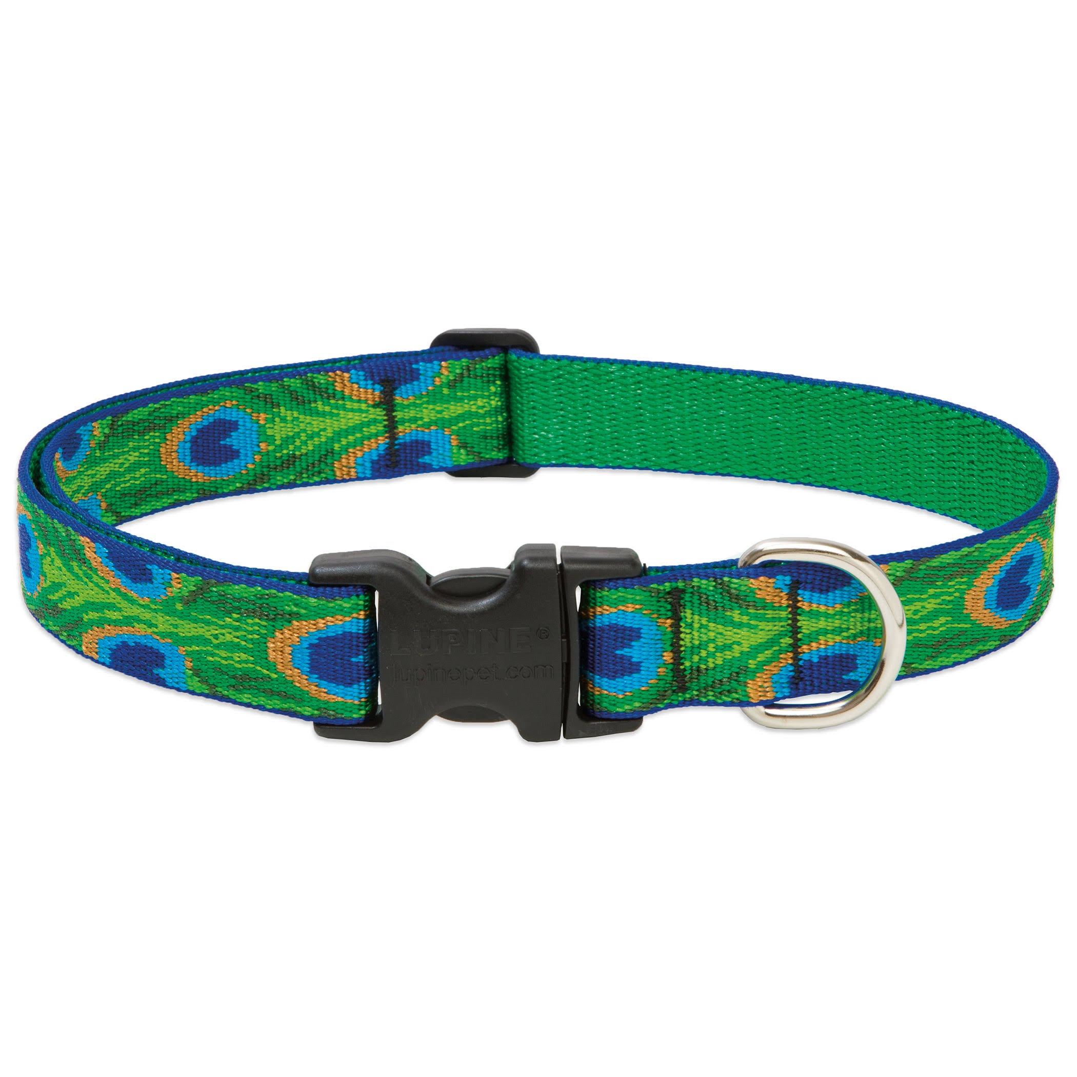 Lupine Tail Feathers Adjustable Dog Collar - 12-20""