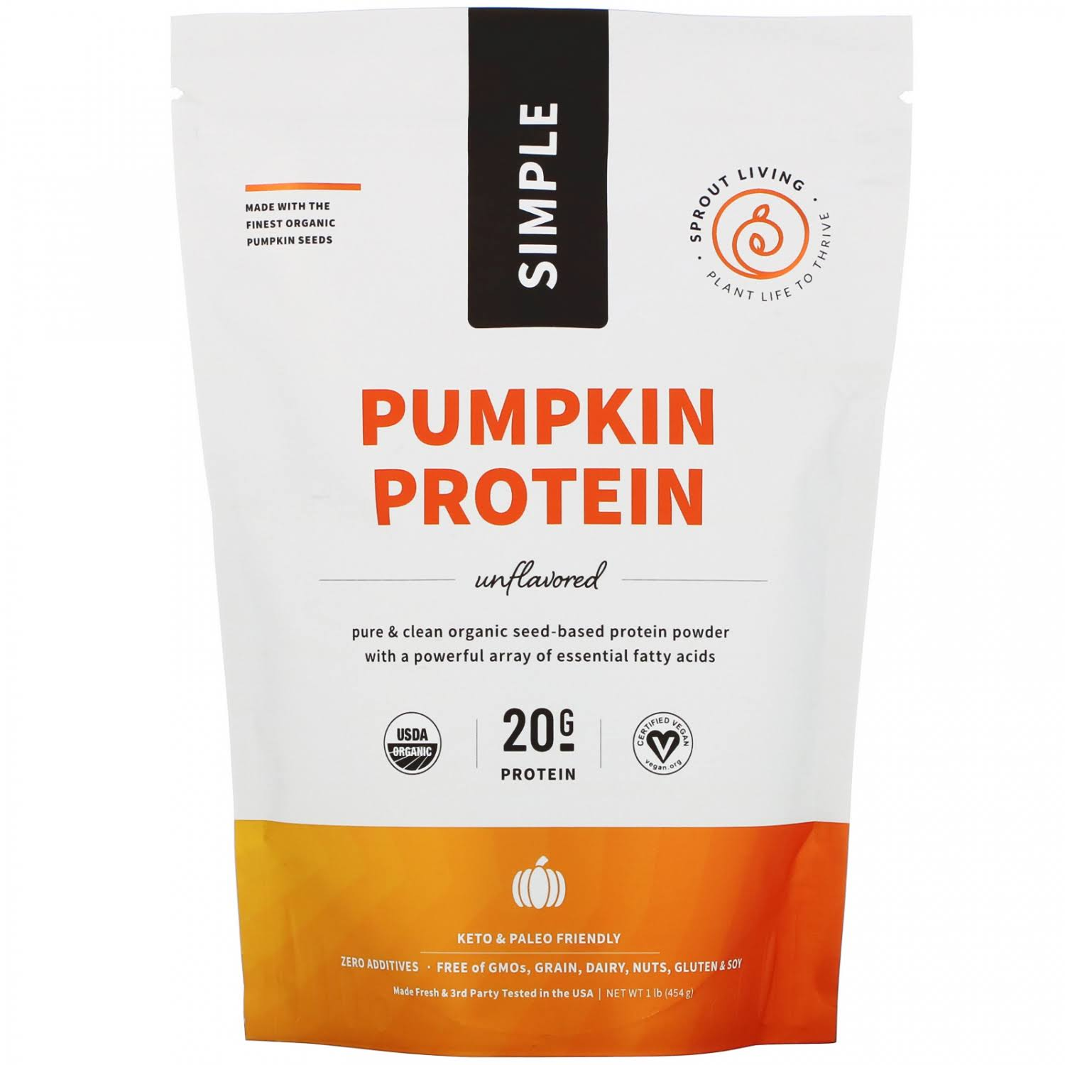 Sprout Living Organic Pumpkin Seed Protein Powder