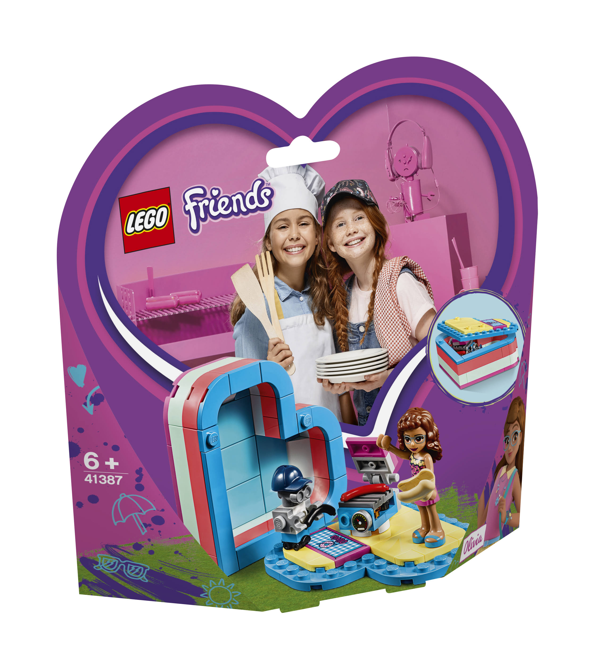 Lego 41387 Friends Olivia's Summer Heart Box Building Toy - 93pcs