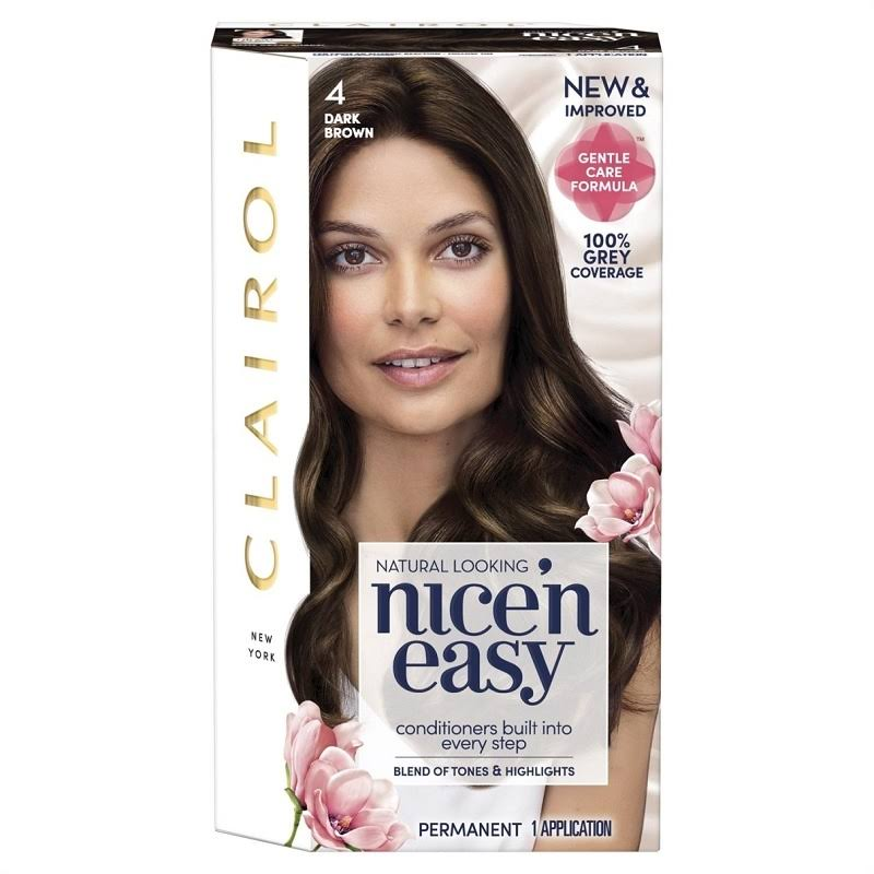 Nice'n Easy Permanent Hair Dye - 4 Dark Brown