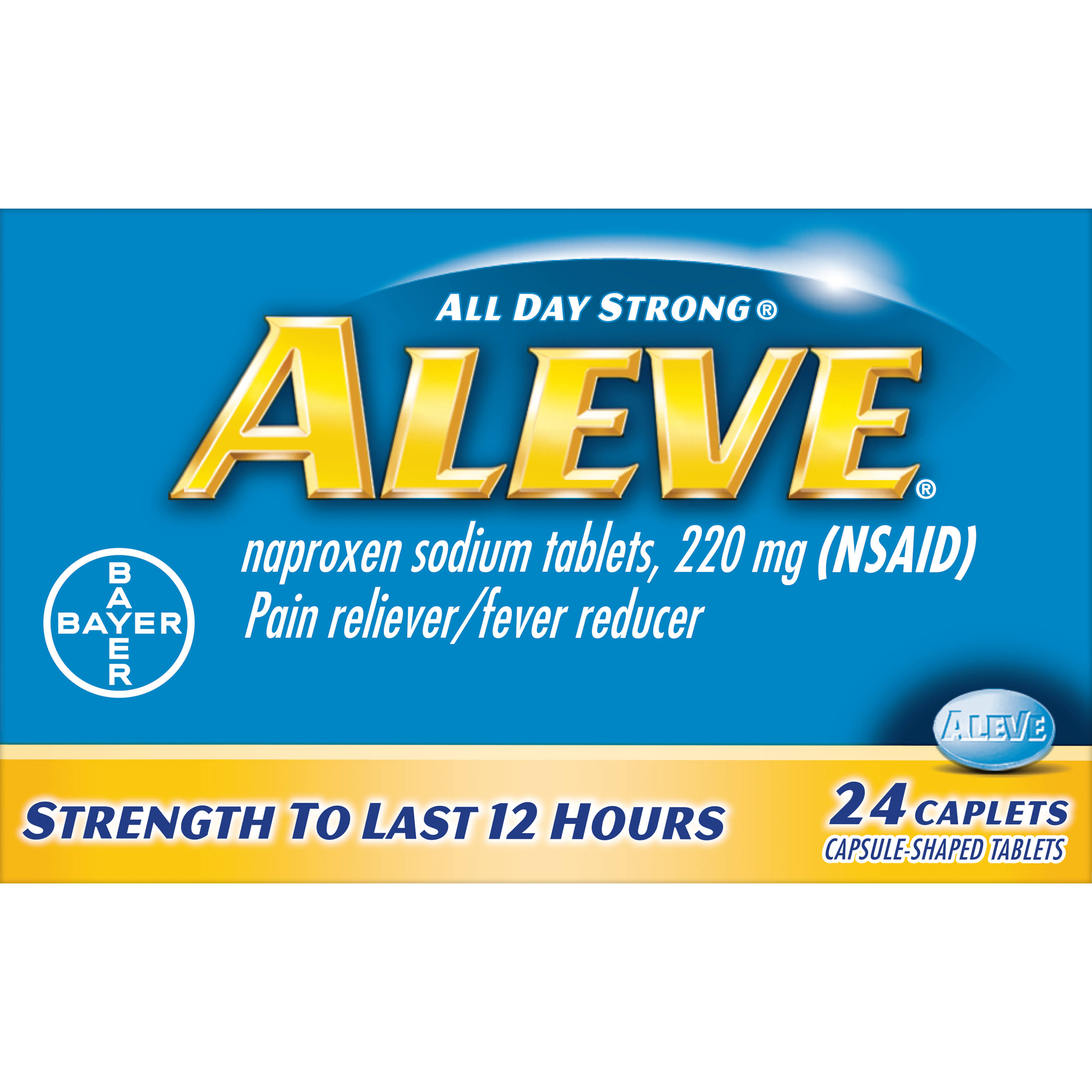 Bayer Aleve All Day Strong Pain Reliever - 24 Caplets