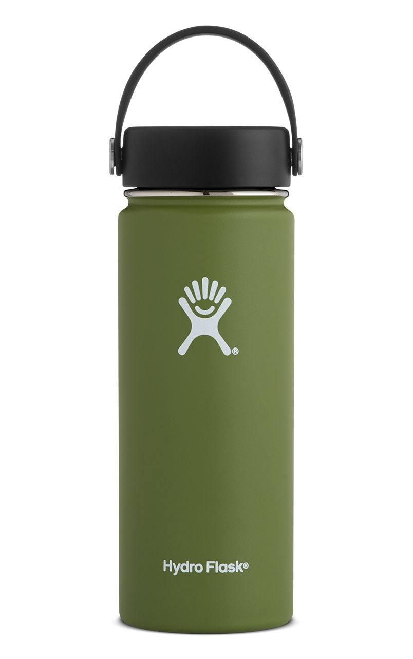 Hydro Flask Wide Mouth Vacuum Water Bottle - Olive, 18oz