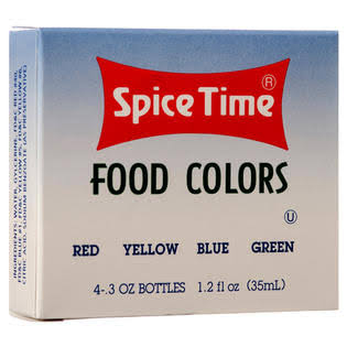 Spice Time 4-Piece Food Colors
