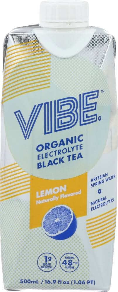 Vibe Organic Electrolyte Black Tea - Lemon, 500ml