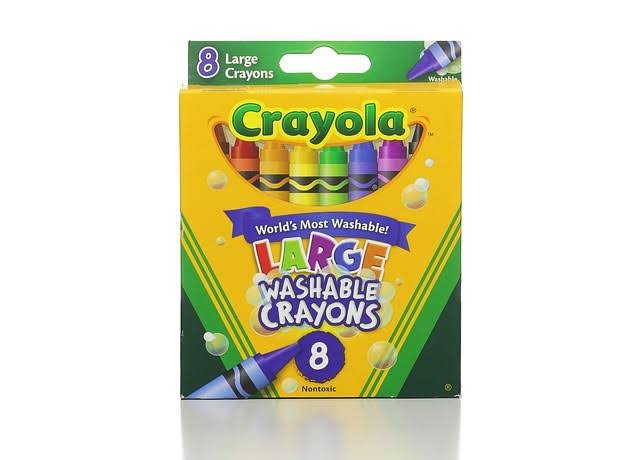 Crayola Washable Crayons - Large, 8 Pack