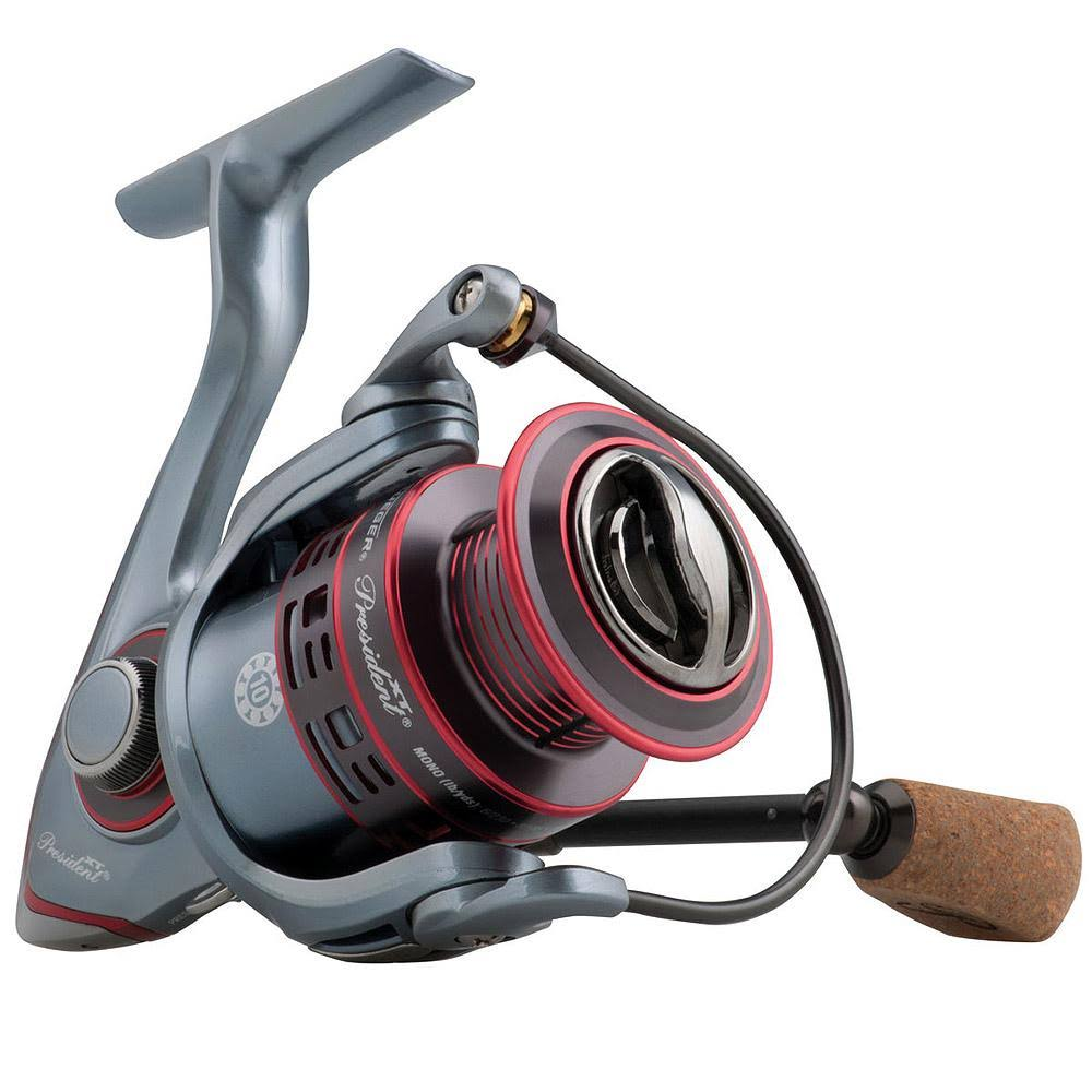 "Pflueger President XT Spinning Reel - 35, 6.2:1 Gear Ratio, 10 Bearings, 27.40"" Retrieve Rate, Left Hand"