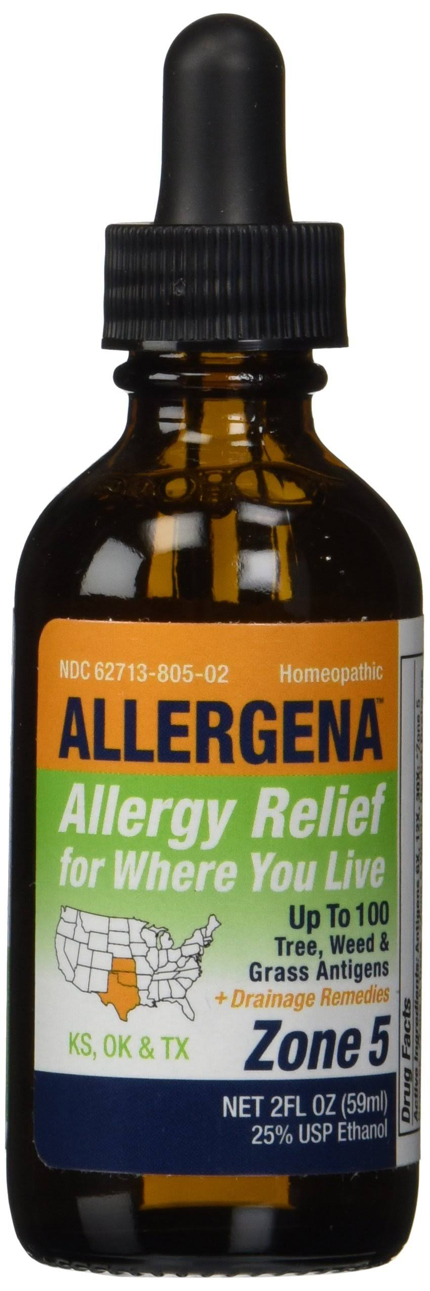 Allergena Allergy Relief Drops Zone - 59ml