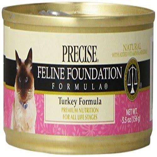 Precise Feline Foundation Formula Cat Food, Turkey Formula - 5.5 oz