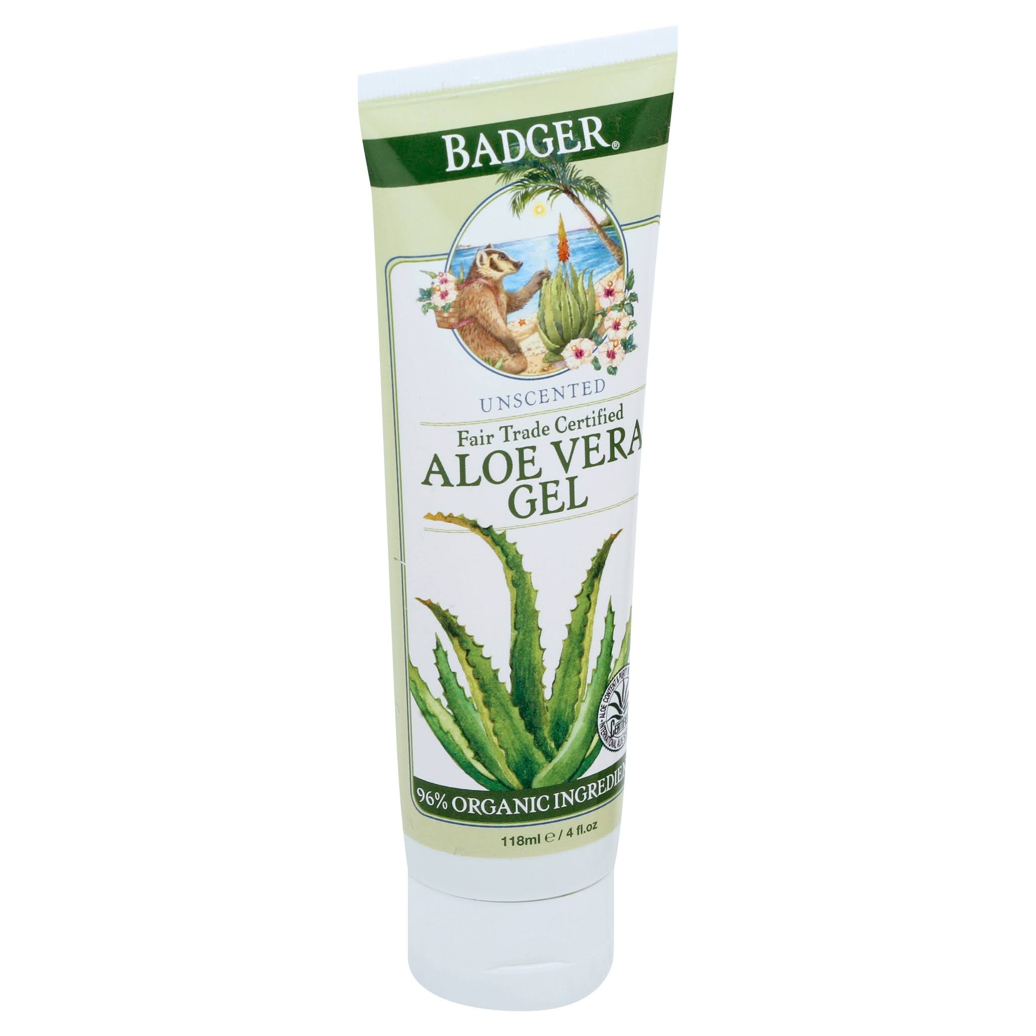 Badger Company Aloe Vera Gel - Unscented, 4oz