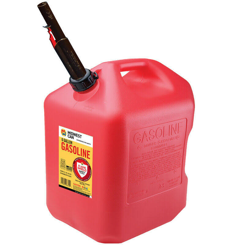 Midwest Can 6610 Auto Shut-Off Gas Can - Plastic, 6gal