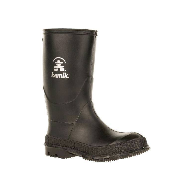 Kamik Stomp Rain Boot - Black, US12 Toodler