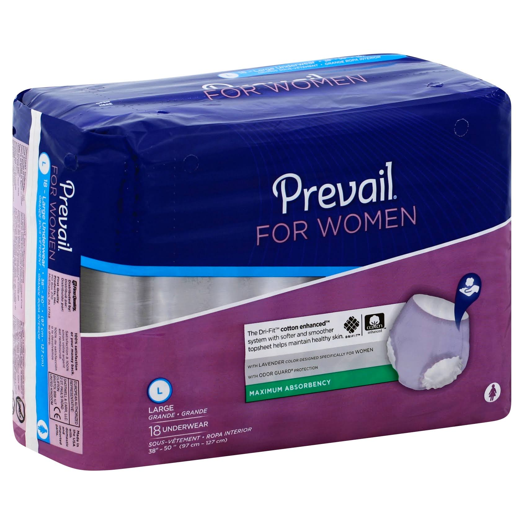 Prevail Underwear For Women - Large