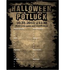 Halloween Potluck Invitation Template Free Printable by I Designed A Halloween Potluck Sign Out Sheet For My Company
