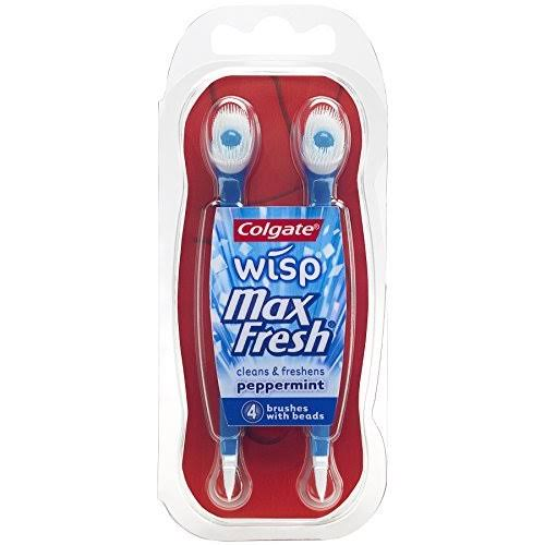 Colgate Wisp Max Fresh Brushes With Beads - Peppermint, 4 Brushes With Beads