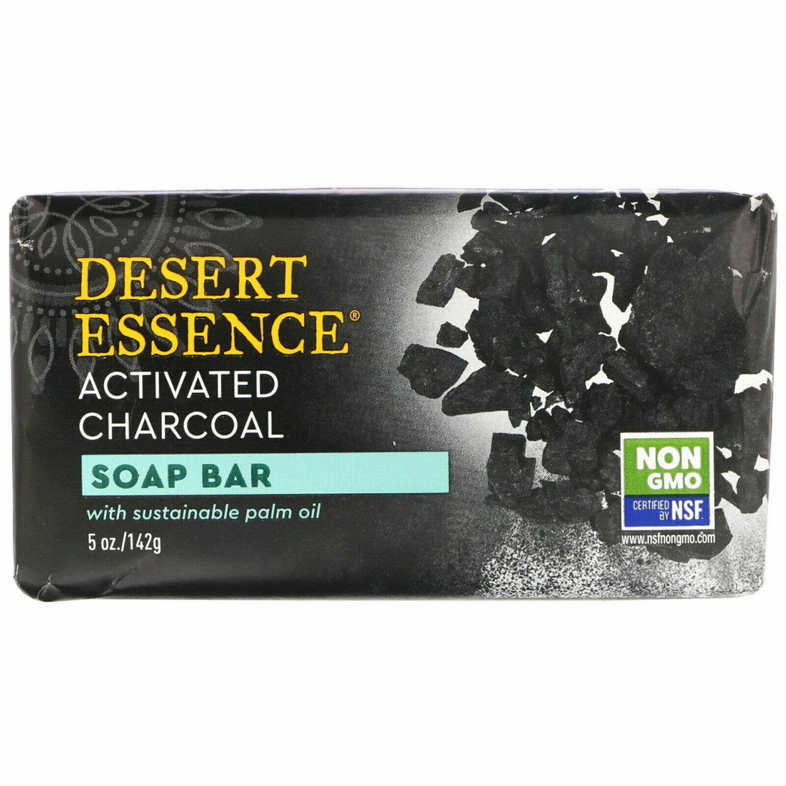 Desert Essence Activated Charcoal Bar Soap - 5oz