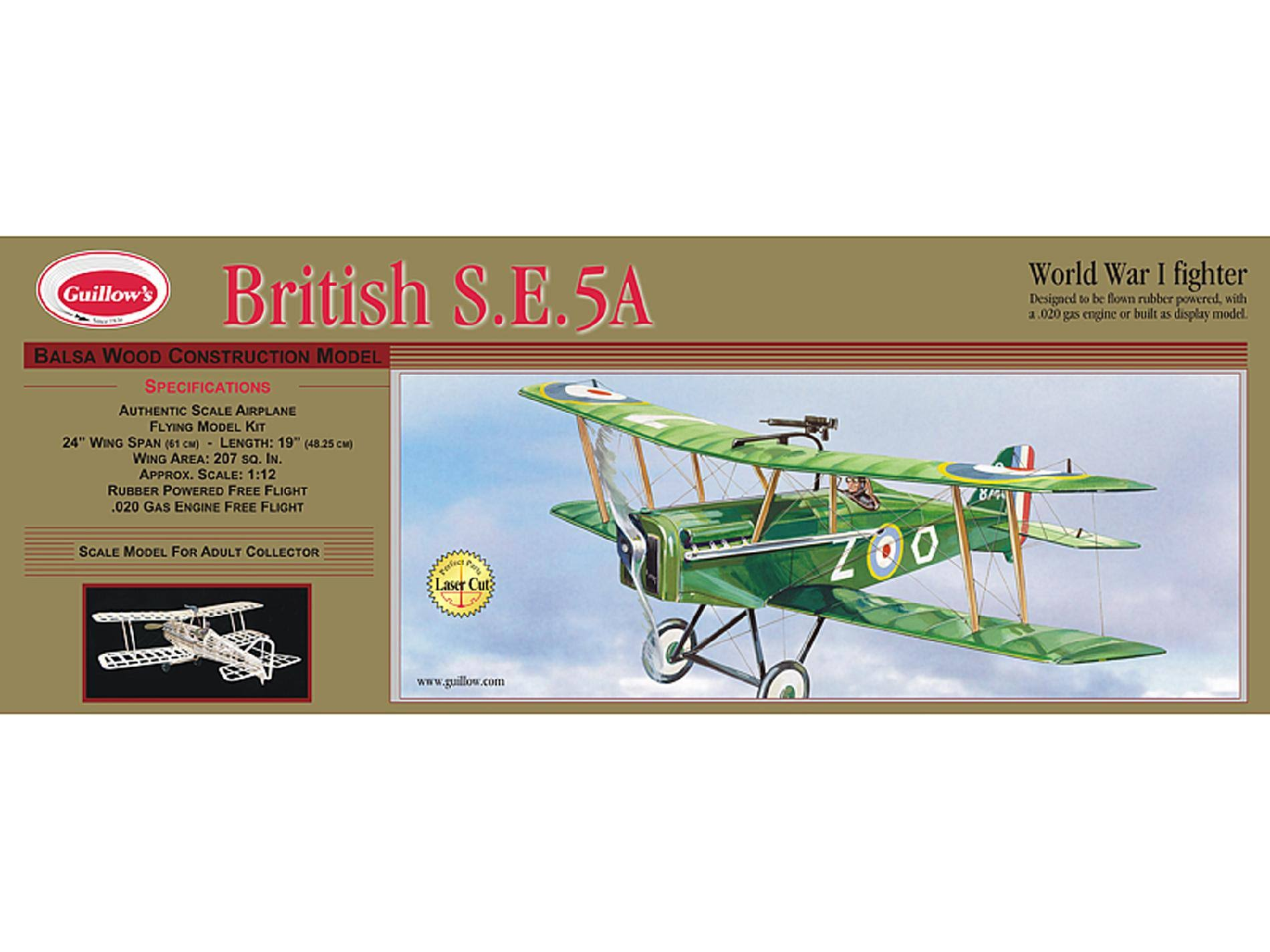Guillow British SE 5A Laser Cut