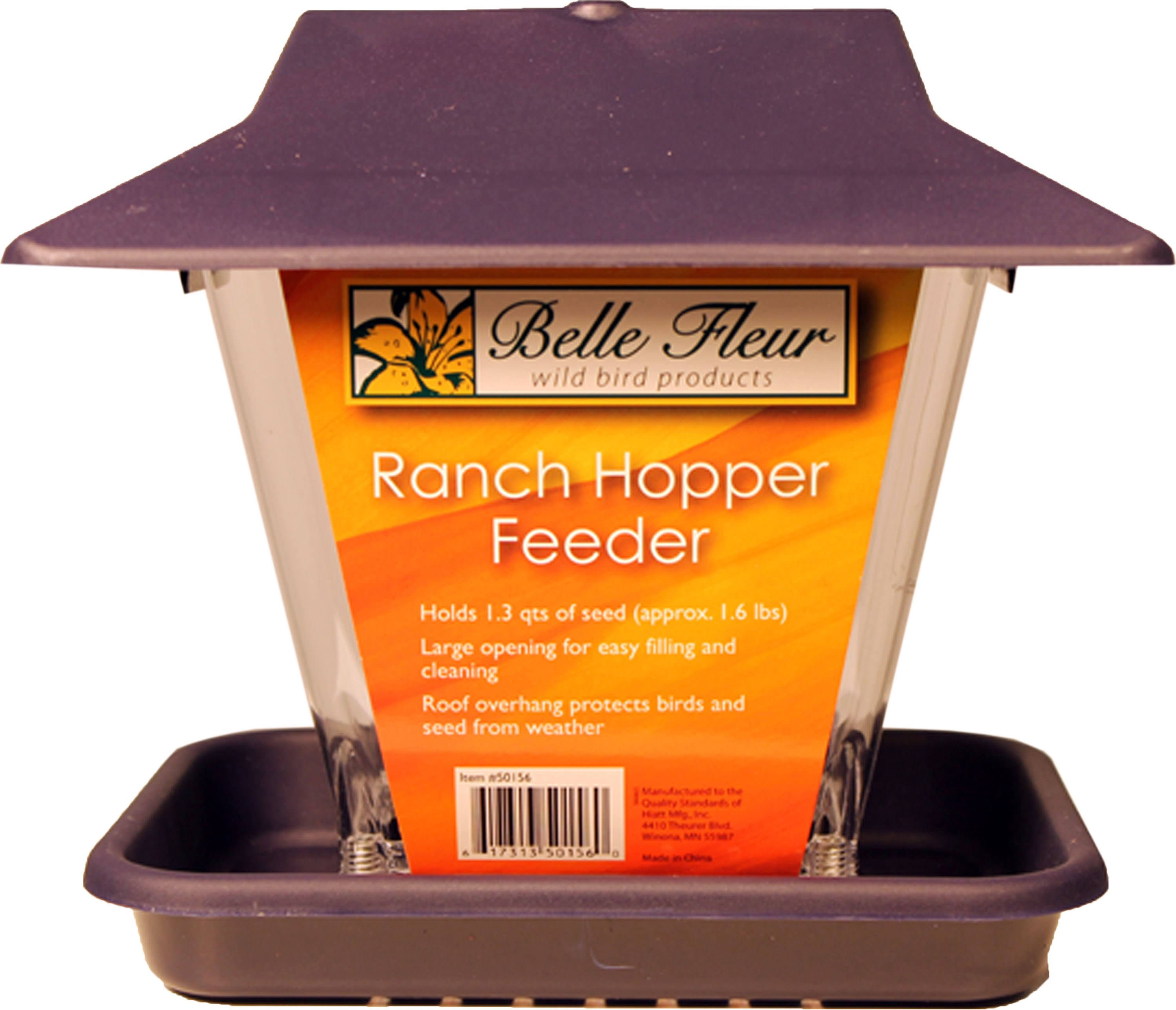Hiatt 50156 Ranch Hopper Bird Feeder - 1.6lbs Capacity
