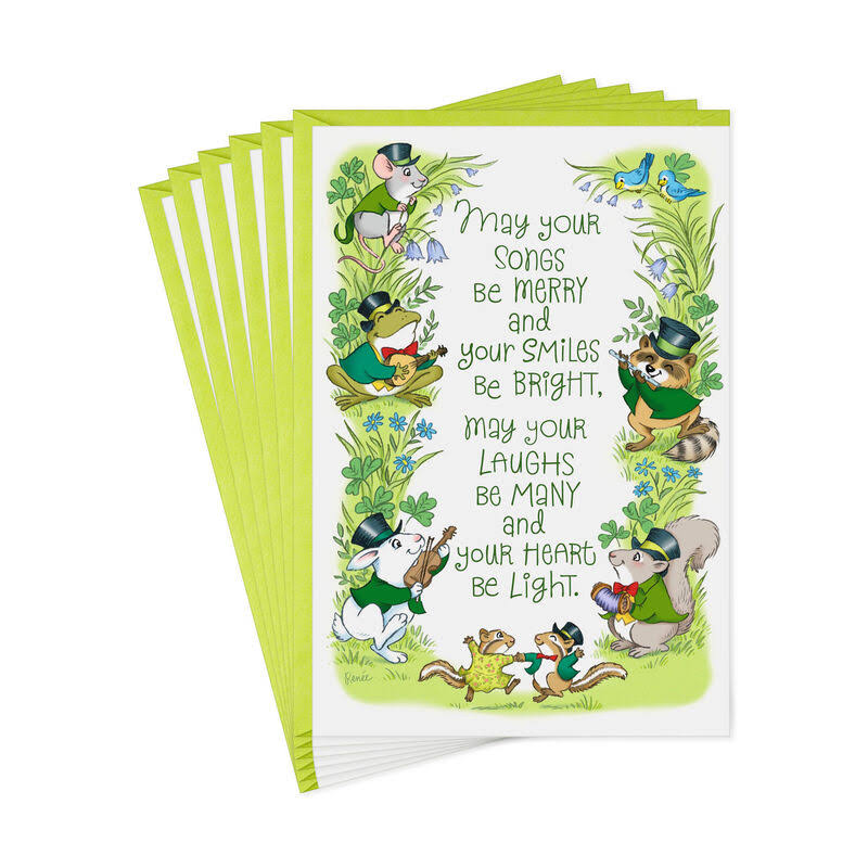 Irish Animals St. Patrick's Day Cards, Pack of 6