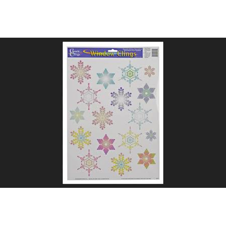 Impact Innovations Christmas Classic Snowflakes Window Clings Multi