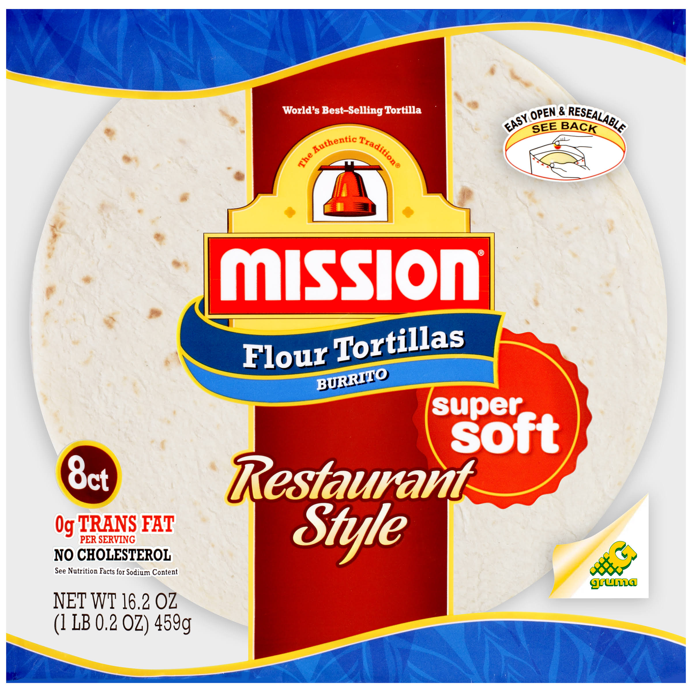 Mission Flour Tortillas - Restaurant Style, 16.2oz