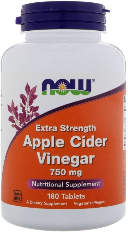 Now Foods Apple Cider Vinegar 750 mg Tablets - 180 Tablets