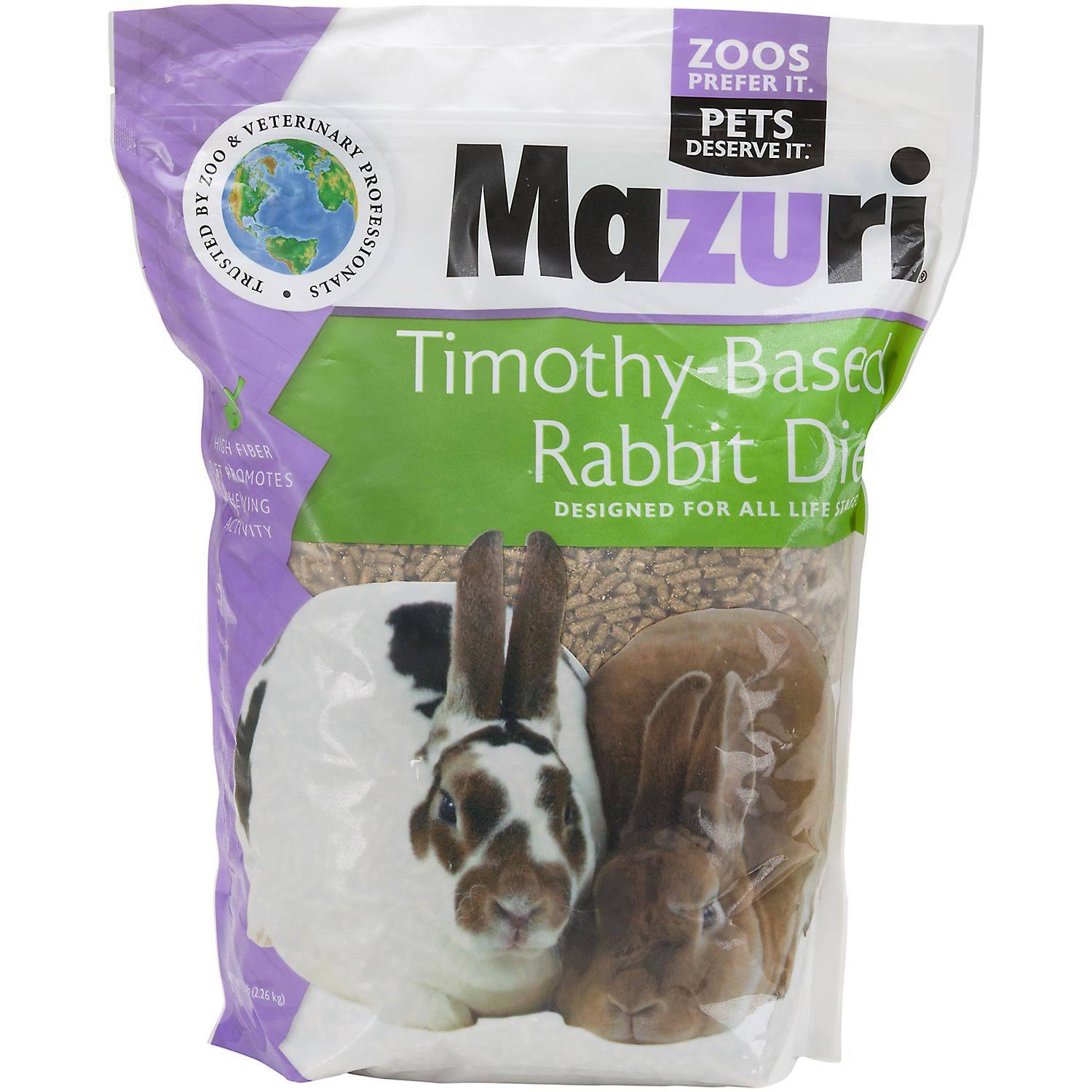 Mazuri Timothy-Based Rabbit Food, 5 lbs.