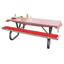 Fitted Outdoor Tablecloth With Umbrella Hole by Picnic Supplies Picnic Table Covers Camping World