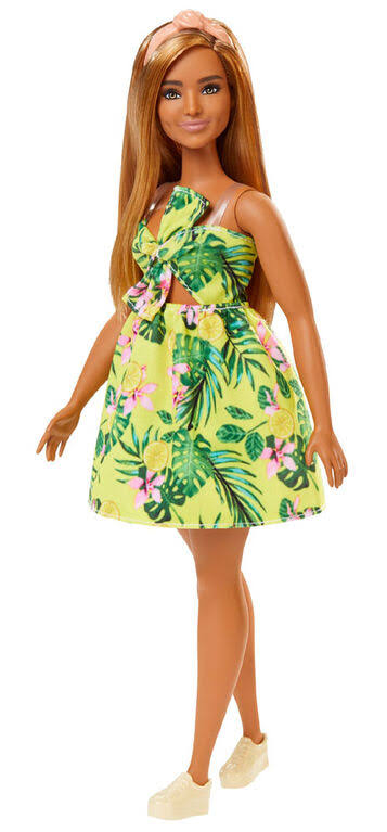 Barbie Fashionistas Curvy Floral Toy Doll