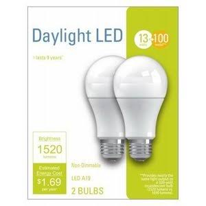 G E Lighting 32594 LED Bulb 13W, A21, Daylight Light