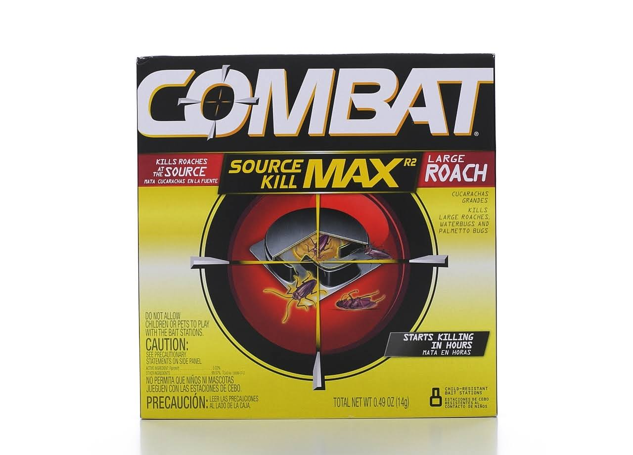 Combat Max Roach Killing Bait - 8 Child-Resistant Bait Stations