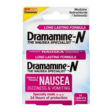 Dramamine Long Lasting Nausea Relief Tablets - 10ct