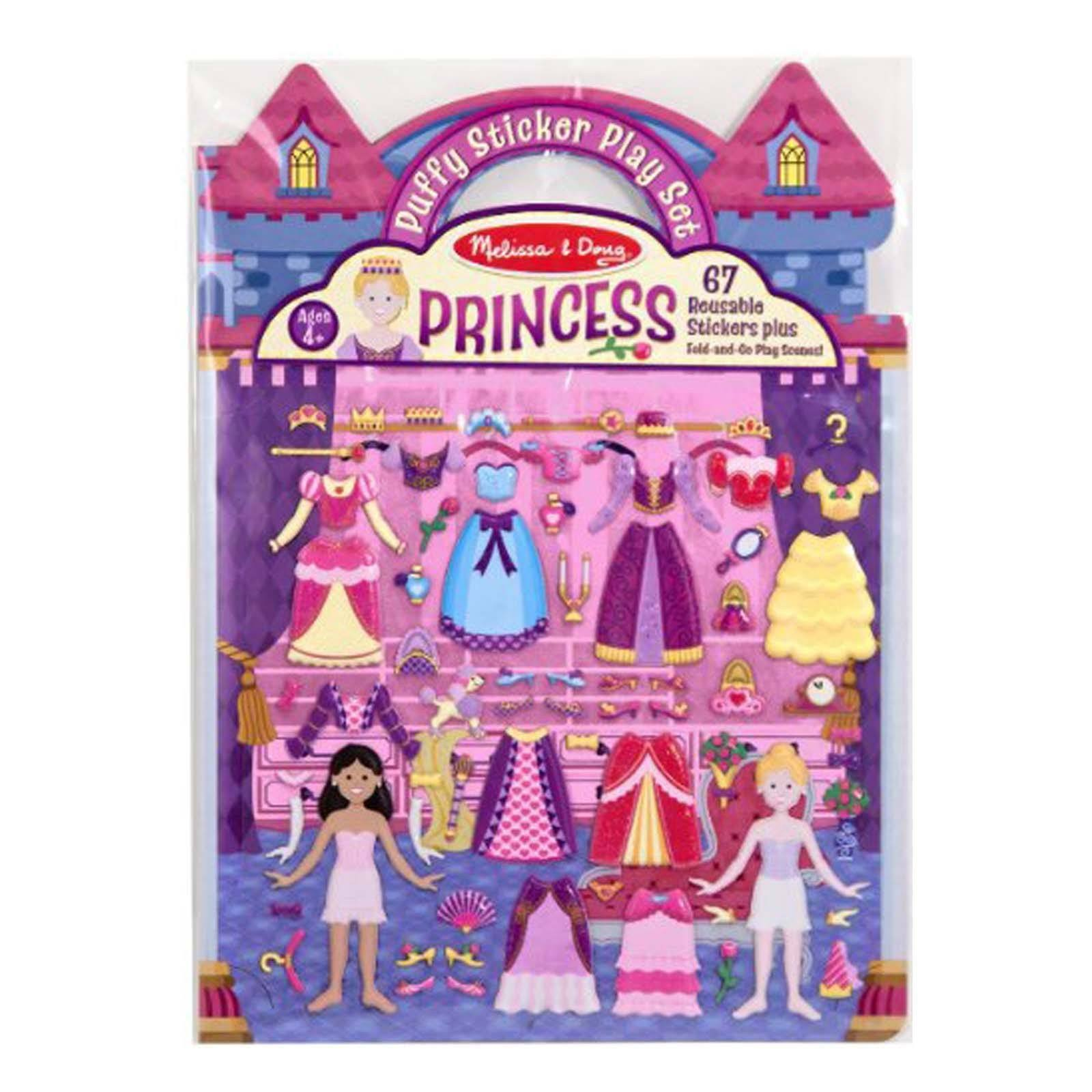 Melissa and Doug Puffy Sticker Playset - Princess