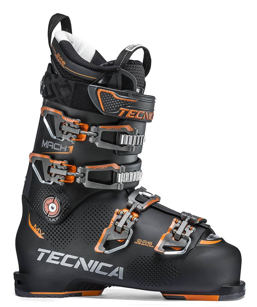 Tecnica Mach1 100 MV Mens Ski Boots - Black, 10.5 US
