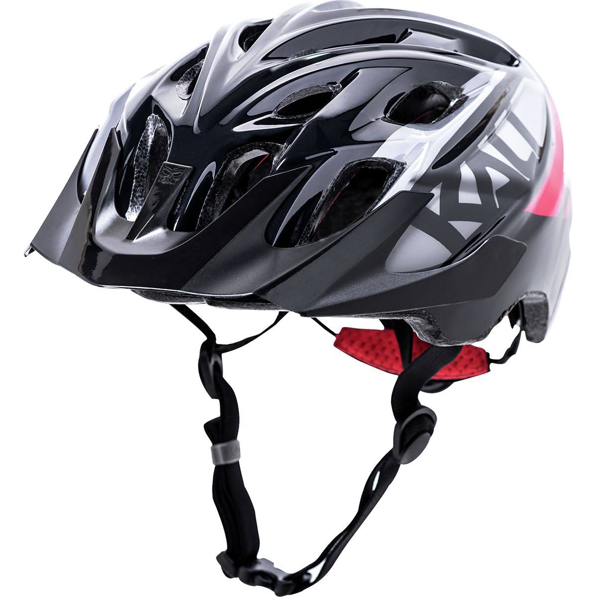 Kali Protectives Youth Chakra Snap Helmet - Gloss Black and Red