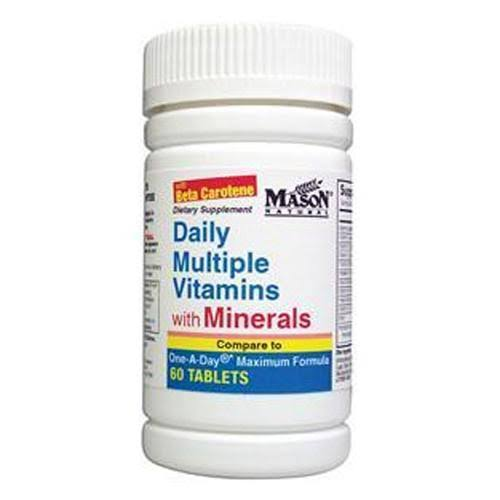 Mason Natural Daily Multiple Vitamins Supplement - with Minerals, 60 Count
