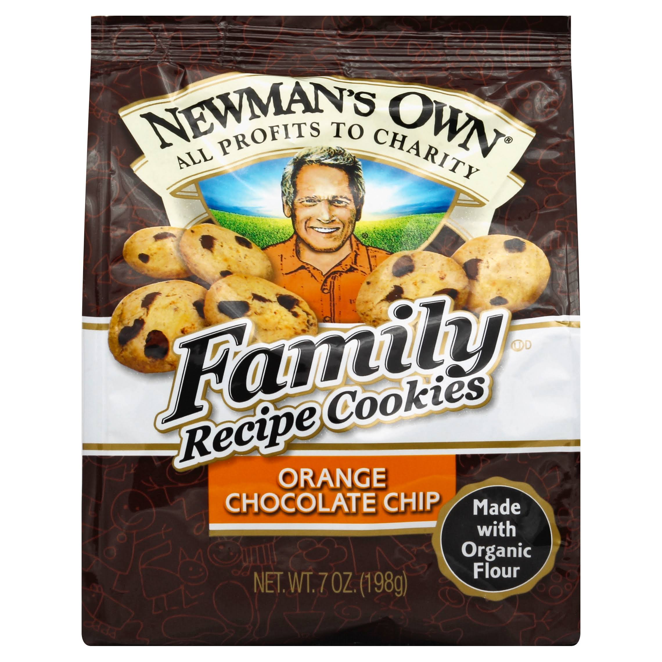 Newman's Own Organics Family Recipe Cookies, Orange Chocolate Chip - 7 oz bag