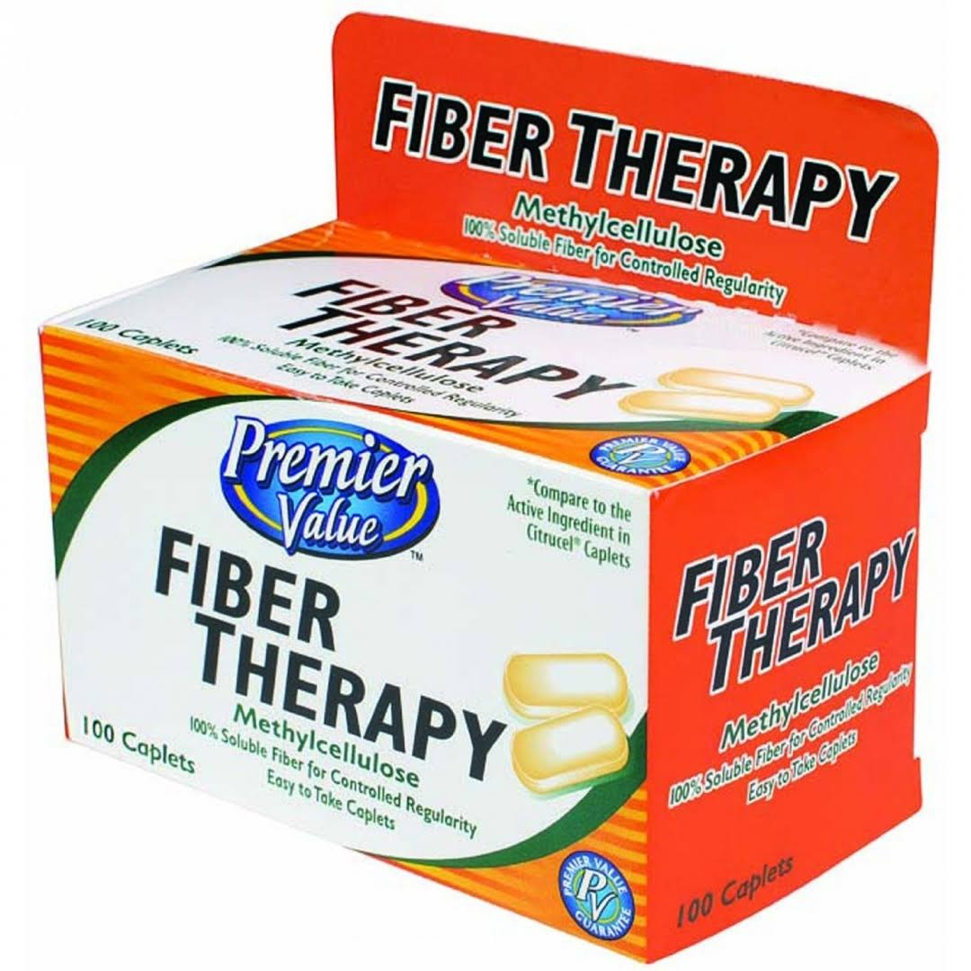 Premier Value Fiber Theraputic Caplets - 100ct