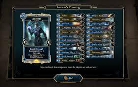 Hearthstone Beginner Decks Mage by Heroes Of Skyrim Complete Card List Legends Decks The Elder