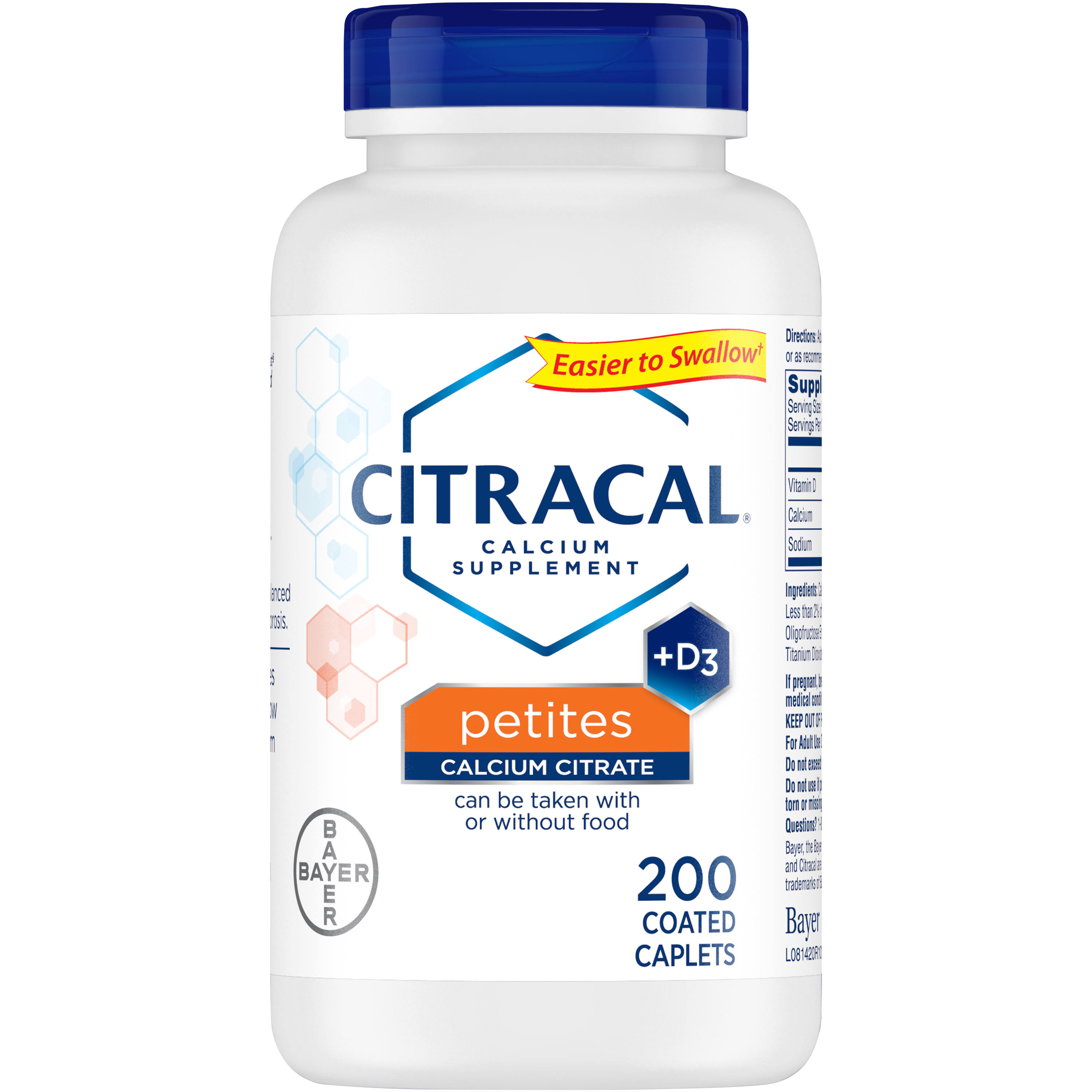 Citracal Plus D3 Petites Calcium Supplement - 200ct