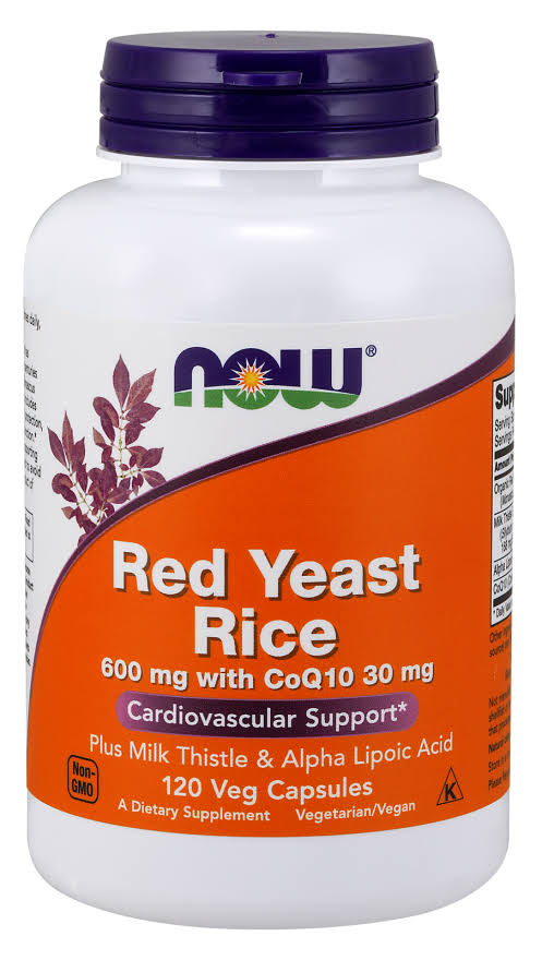 Now Foods Red Yeast Rice with Coq10 Supplement - 120 Vcaps