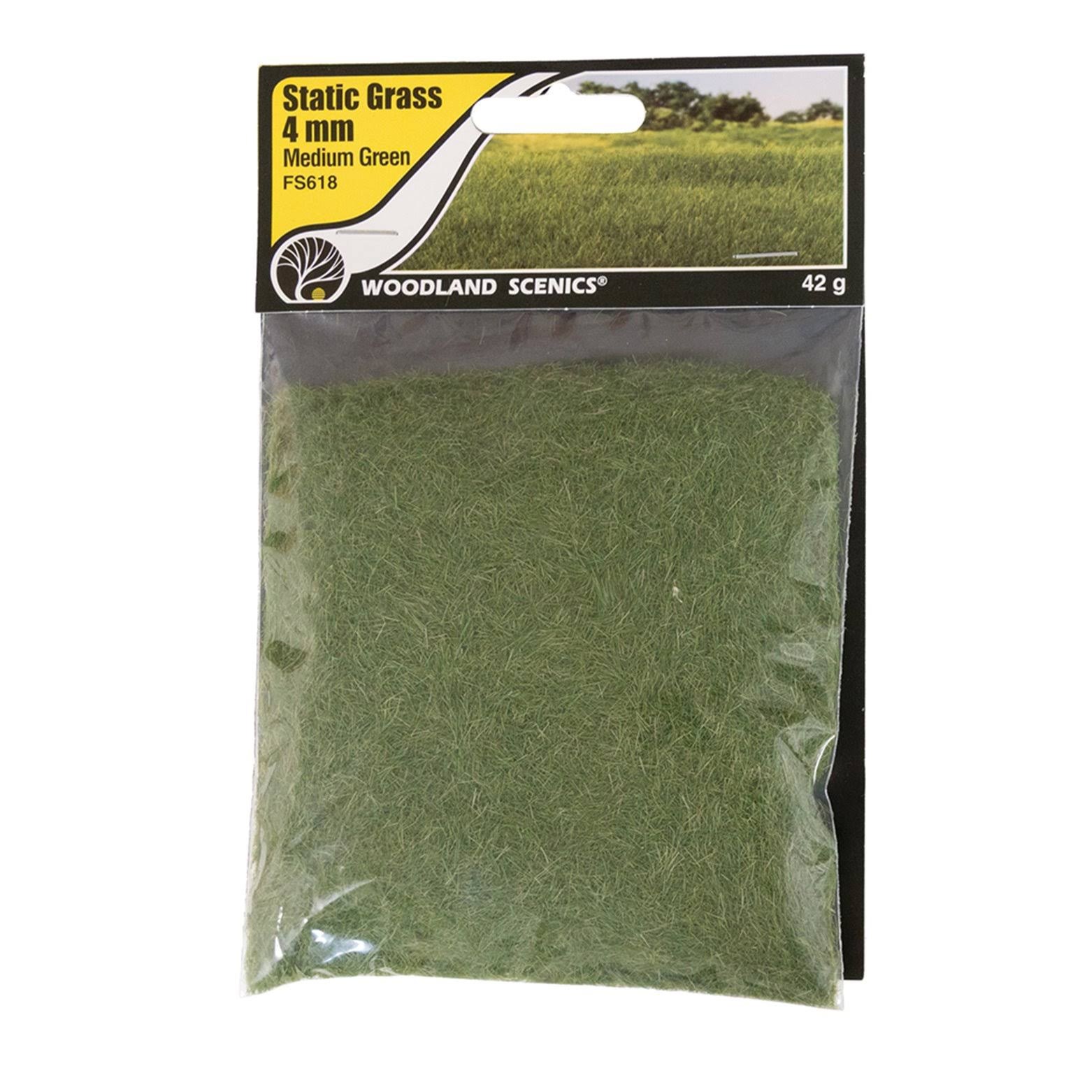 Woodland Scenics Static Grass Medium Green 4mm