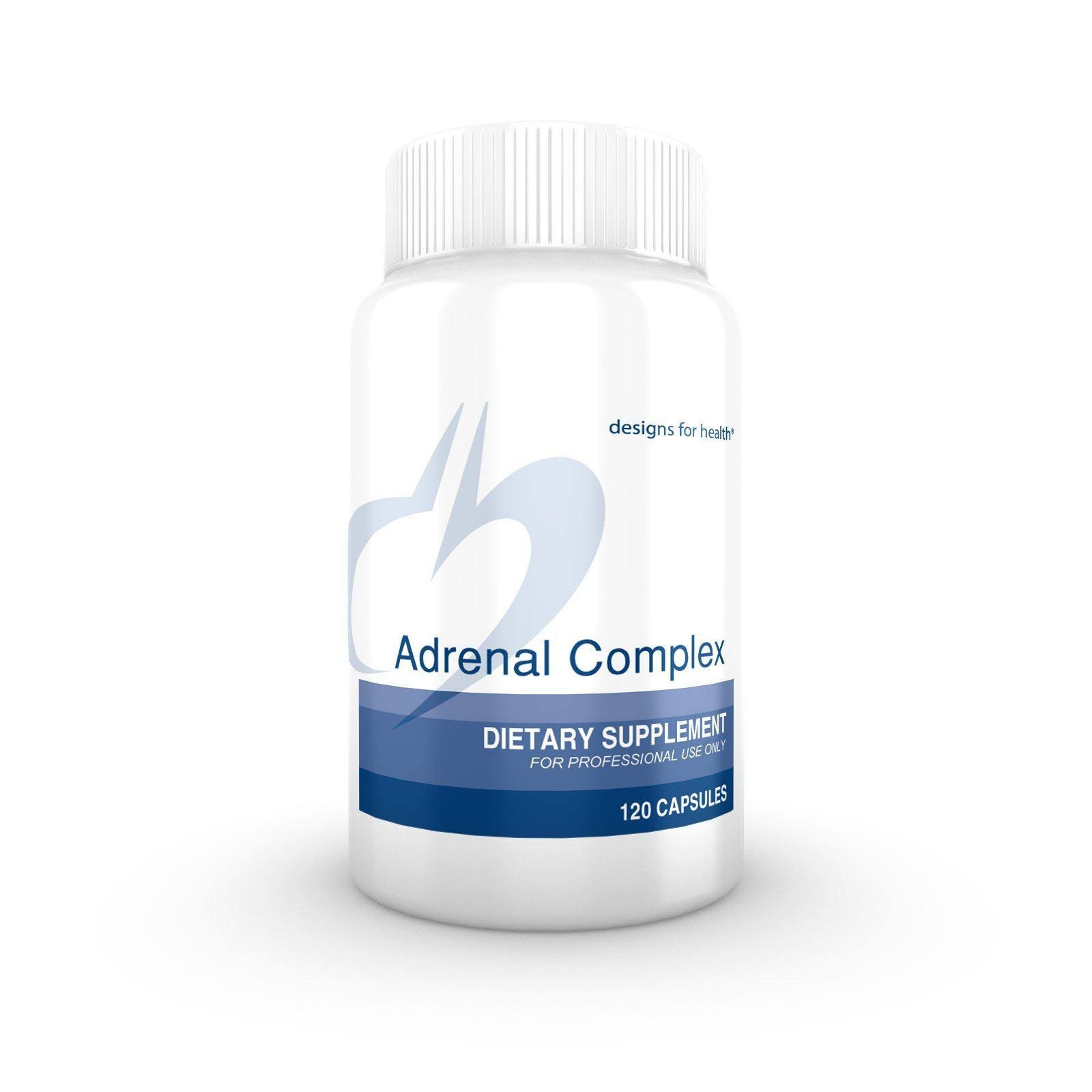 Designs For Health Adrenal Complex Supplement - 120 Vegetarian Capsules