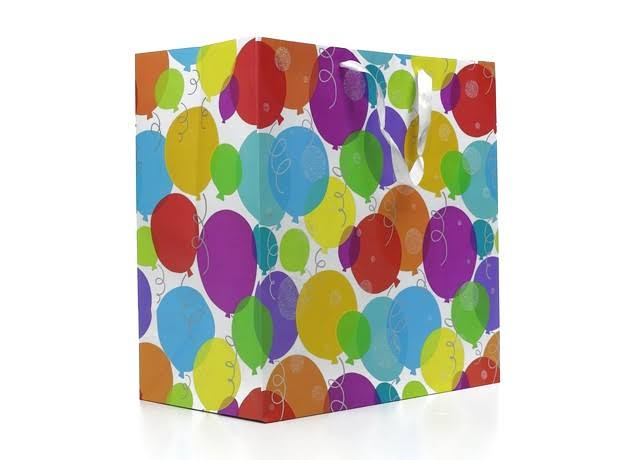 American Greetings Glitter - Glitter Balloons Extra-Large Birthday Gift Bag