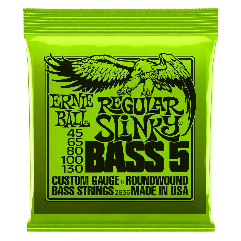 Ernie Ball 2836 Regular Slinky Nickel Wound Bass Set - 5 String