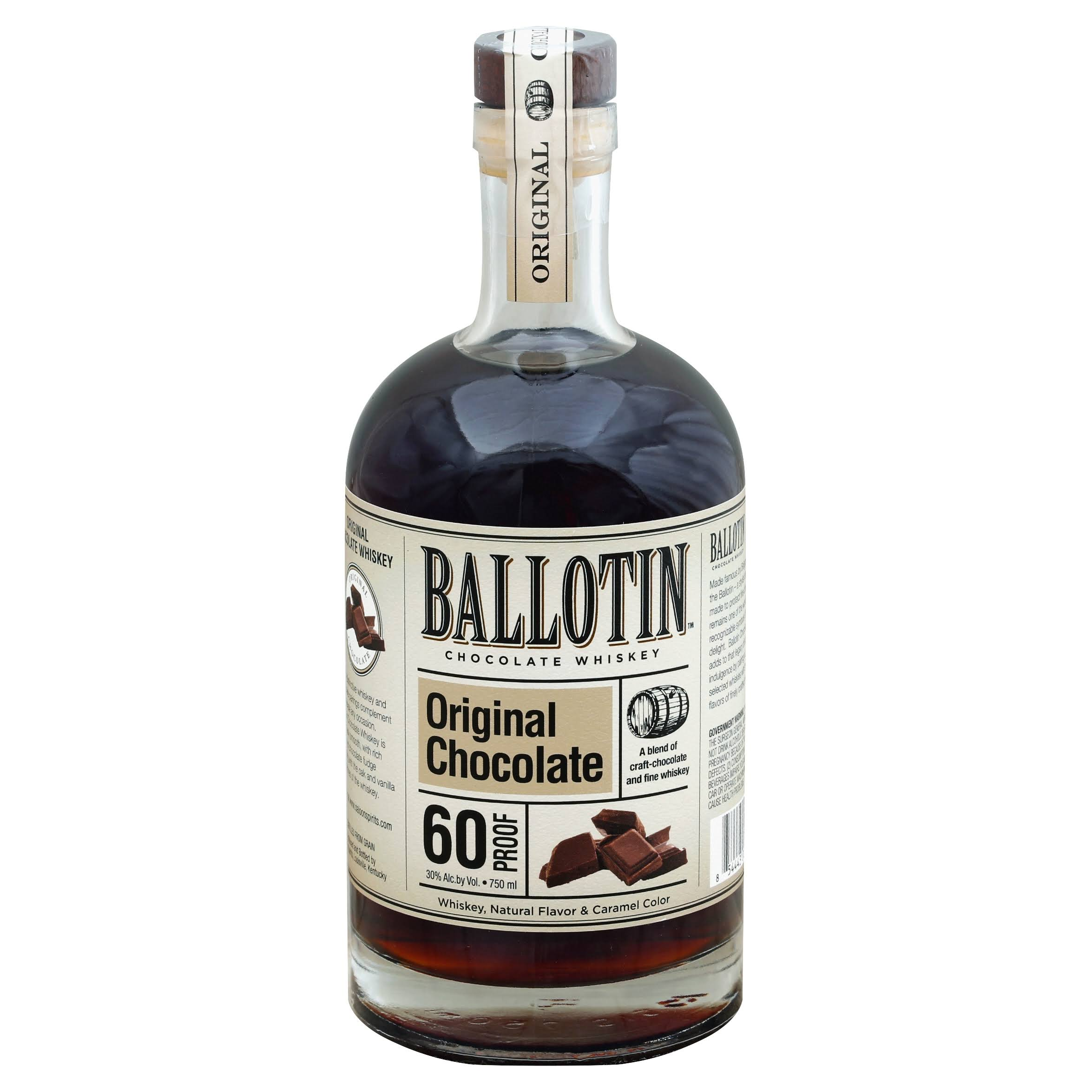 Ballotin Whiskey, Chocolate, Original Chocolate - 750 ml