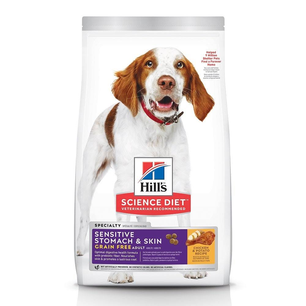 Hill's Science Diet Sensitive Stomach & Skin Grain Free Chicken & Potato Recipe Adult Dry Dog Food, 24 lbs.
