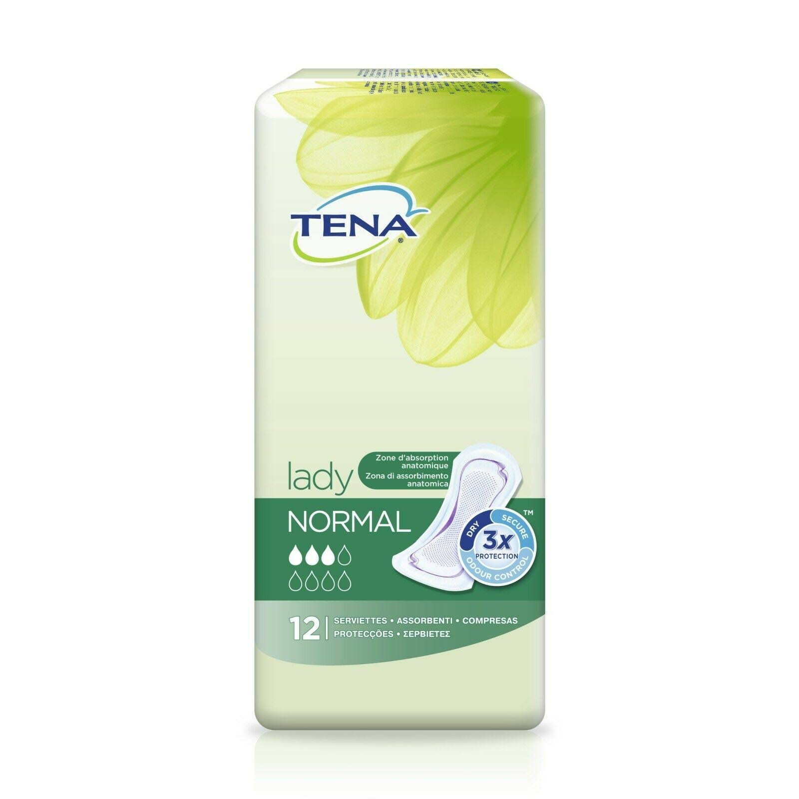 TENA Lady Normal Pads - 12 Pads
