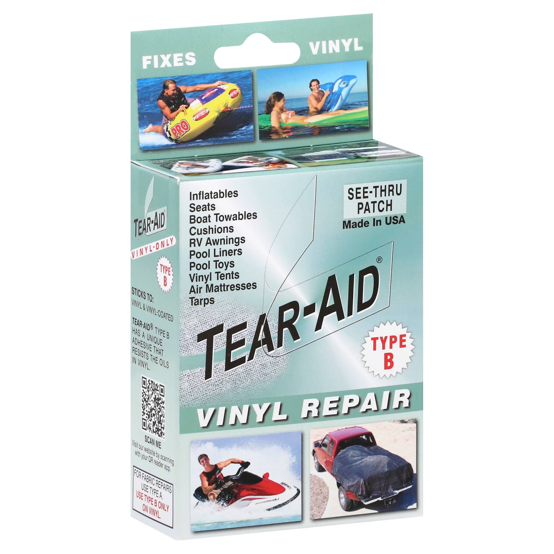 Tear Aid Repair Type B Vinyl Kit