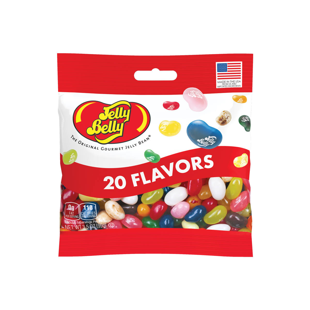 Jelly Belly Candy - 20 Flavors, 3.5oz